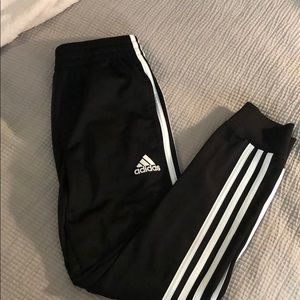 Adidas 3 stripe tapered joggers